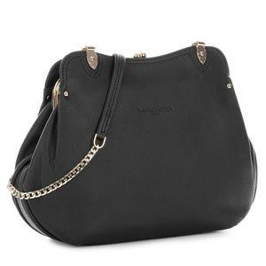 LANCASTER PARIS Ines Leather Crossbody Bag ~ Black